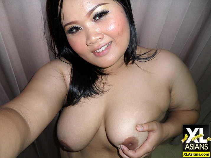 thick asian self shot
